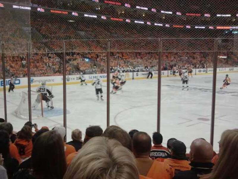 Seating view for Wells Fargo Center Section 109 Row 7 Seat 22
