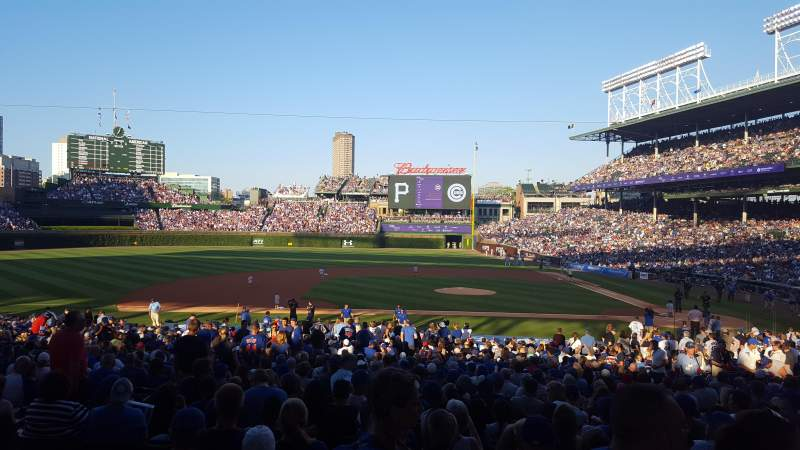 Seating view for Wrigley Field Section 215 Row 2 Seat 108