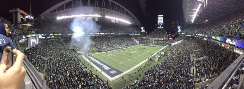 Seating view for CenturyLink Field Section 316 Row A Seat 19