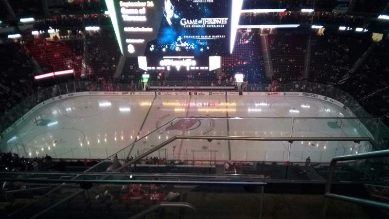 Seating view for Prudential Center Section 229 Row 4 Seat 1