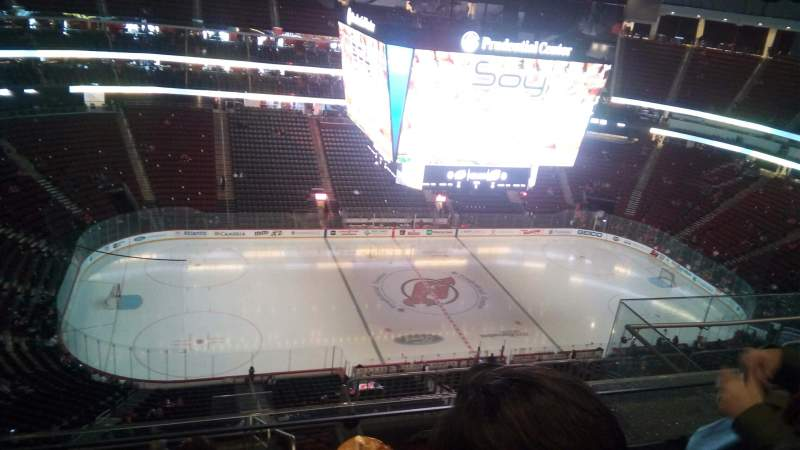 Seating view for Prudential Center Section 210 Row 5 Seat 8