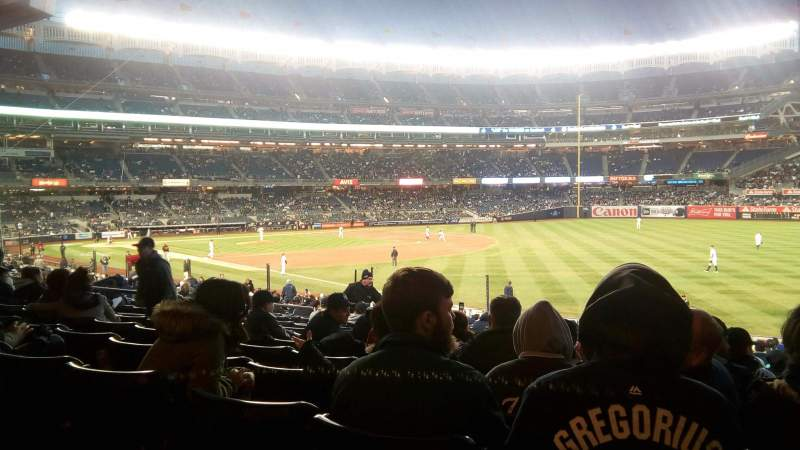 Seating view for Yankee Stadium Section 110 Row 27 Seat 3