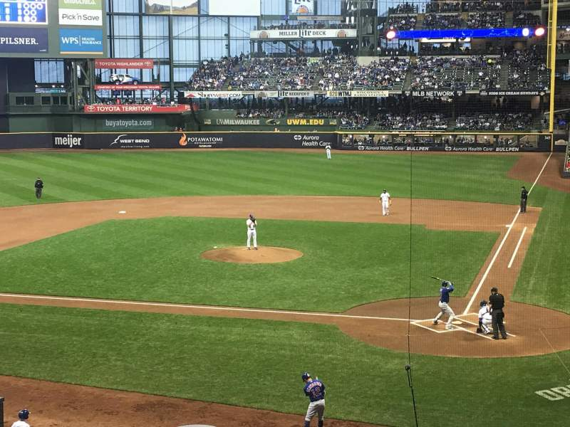 Miller Park, section: 221, row: 2, seat: 10