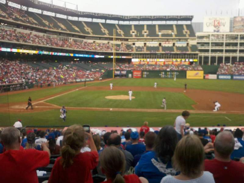 Seating view for Globe Life Park in Arlington Section 32 Row 22 Seat 15