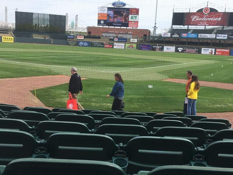 Seating view for Louisville Slugger Field Section 116 Row J Seat 5