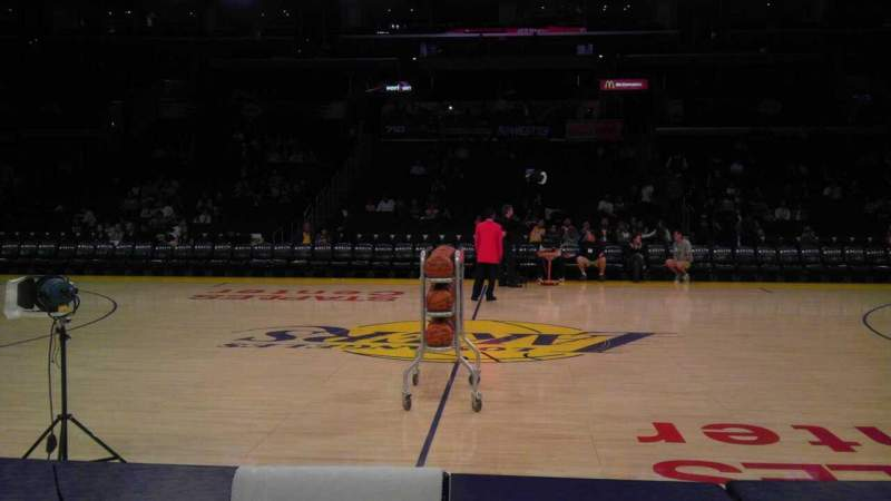 Seating view for Staples Center Section 101 Row A Seat 10