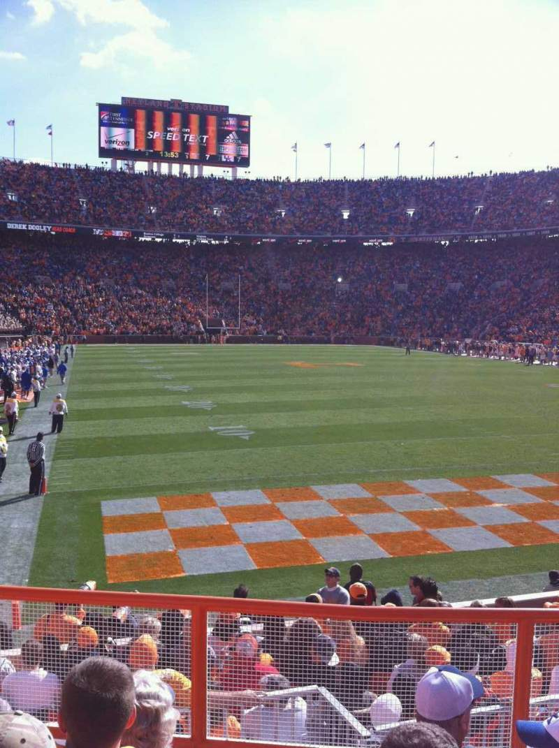 Seating view for Neyland Stadium Section Z11 Row 5 Seat 6