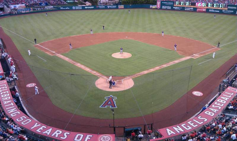Seating view for Angel Stadium Section 410 Row A Seat 419