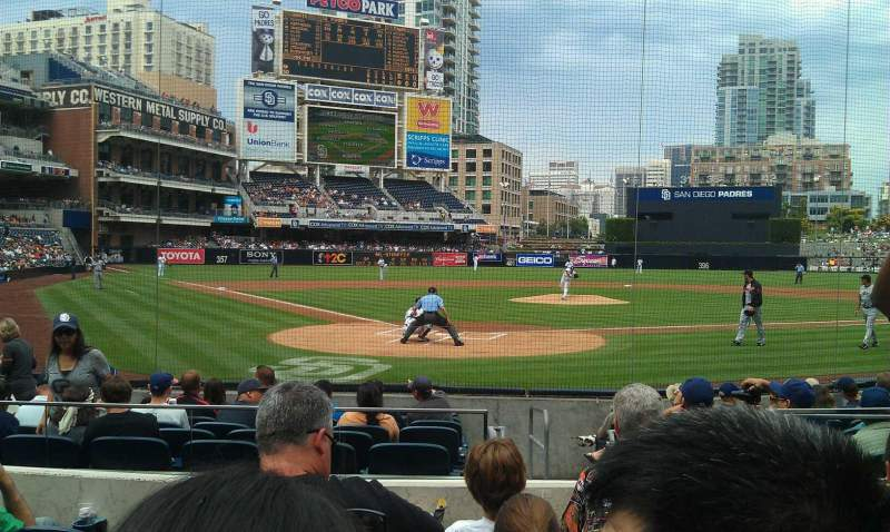 Seating view for PETCO Park Section 101 Row 12 Seat 14