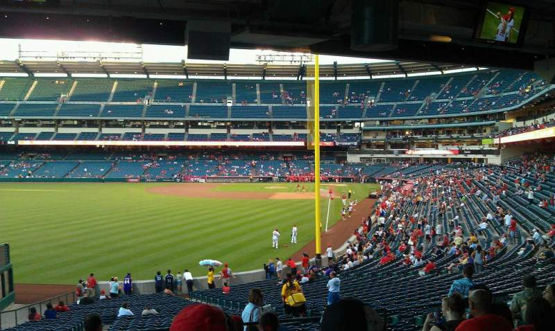 Seating view for Angel Stadium Section 201 Row J Seat 11,12