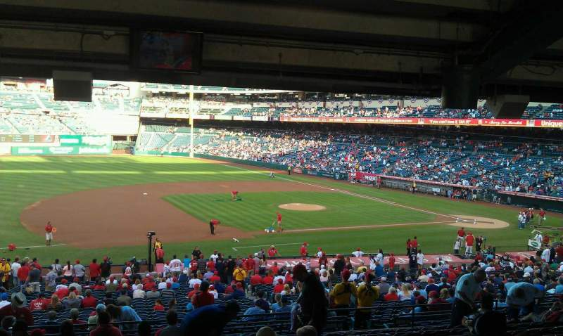 Seating view for Angel Stadium Section T210 Row WC Seat 2,3