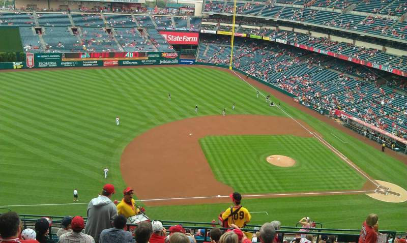 Seating view for Angel Stadium Section V512 Row H Seat 19,20