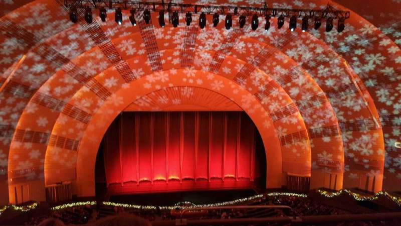 Seating view for Radio City Music Hall Section 3rd MEZZANINE 5 Row C Seat 501