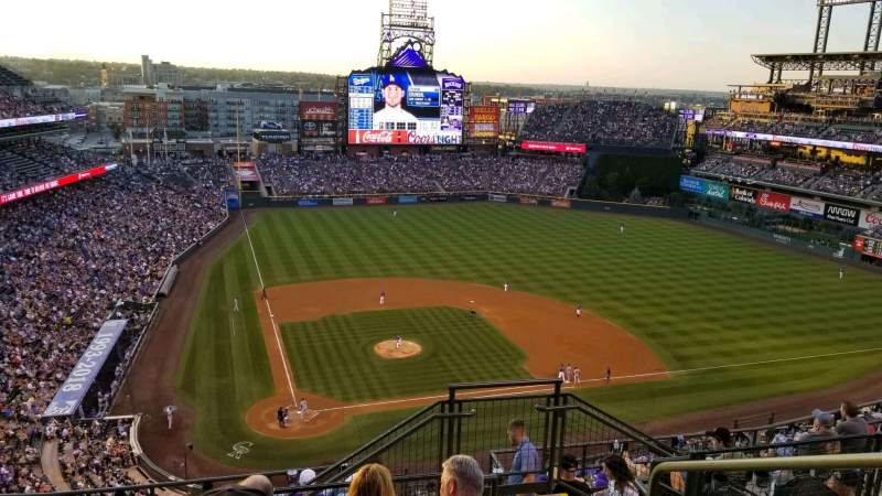 Seating view for Coors Field Section 327 Row 14 Seat 3