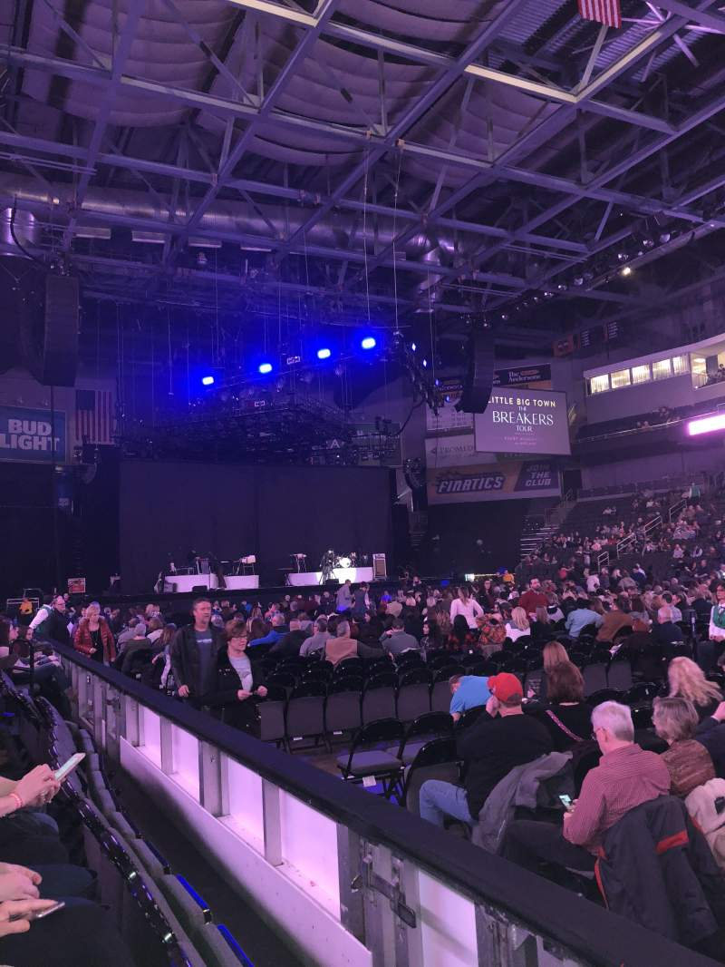 Seating view for Huntington Center Section 106 Row B Seat 2