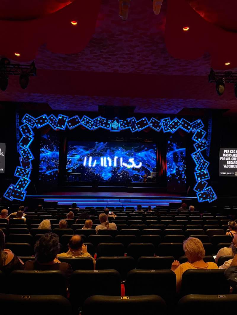 Seating view for The Mirage Theatre Section 102 Row D Seat 10