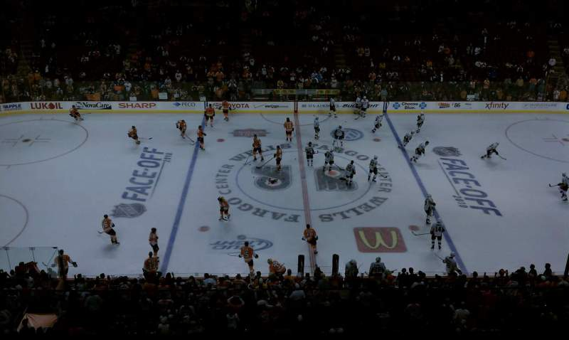 Seating view for Wells Fargo Center Section 201 Row 3 Seat 1