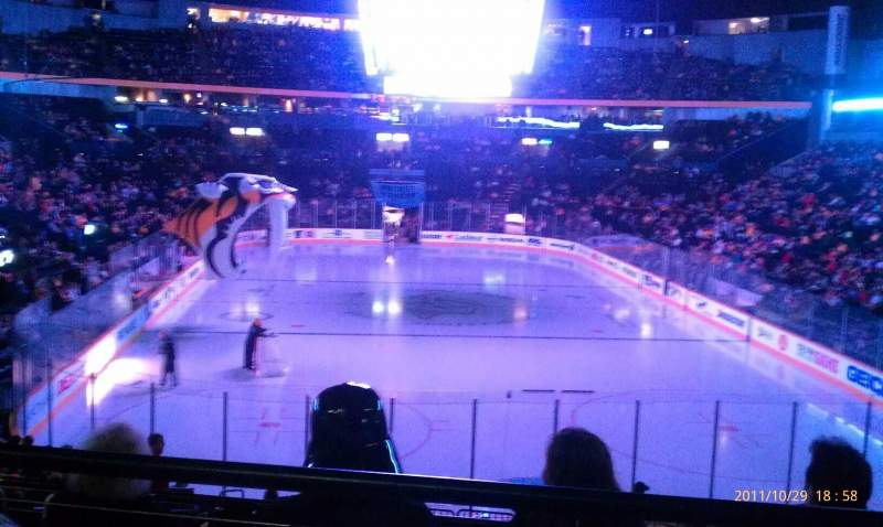 Seating view for Bridgestone Arena Section 120 Row j Seat 4