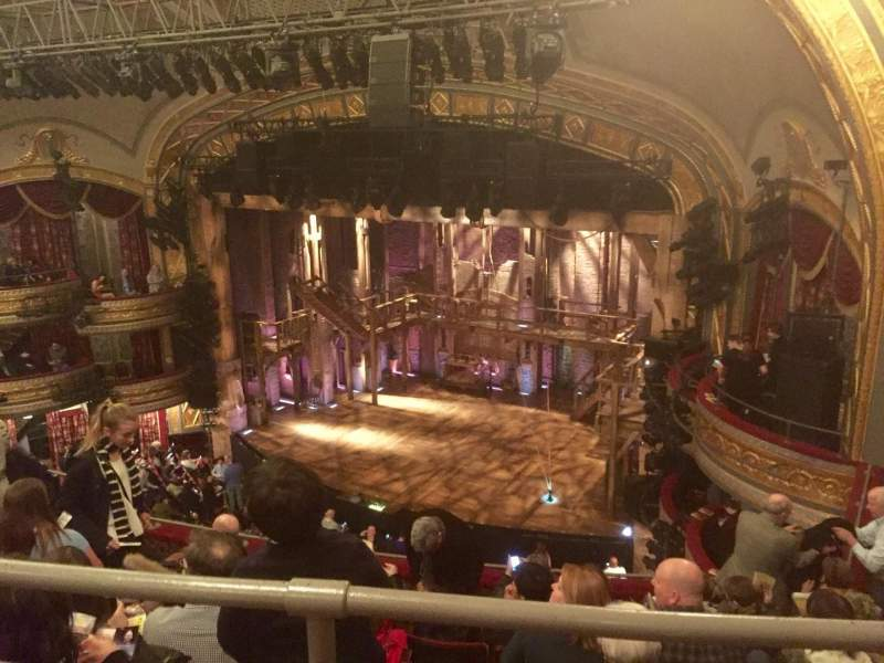 Seating view for Richard Rodgers Theatre Section Rear Mezzanine Row A Seat 26