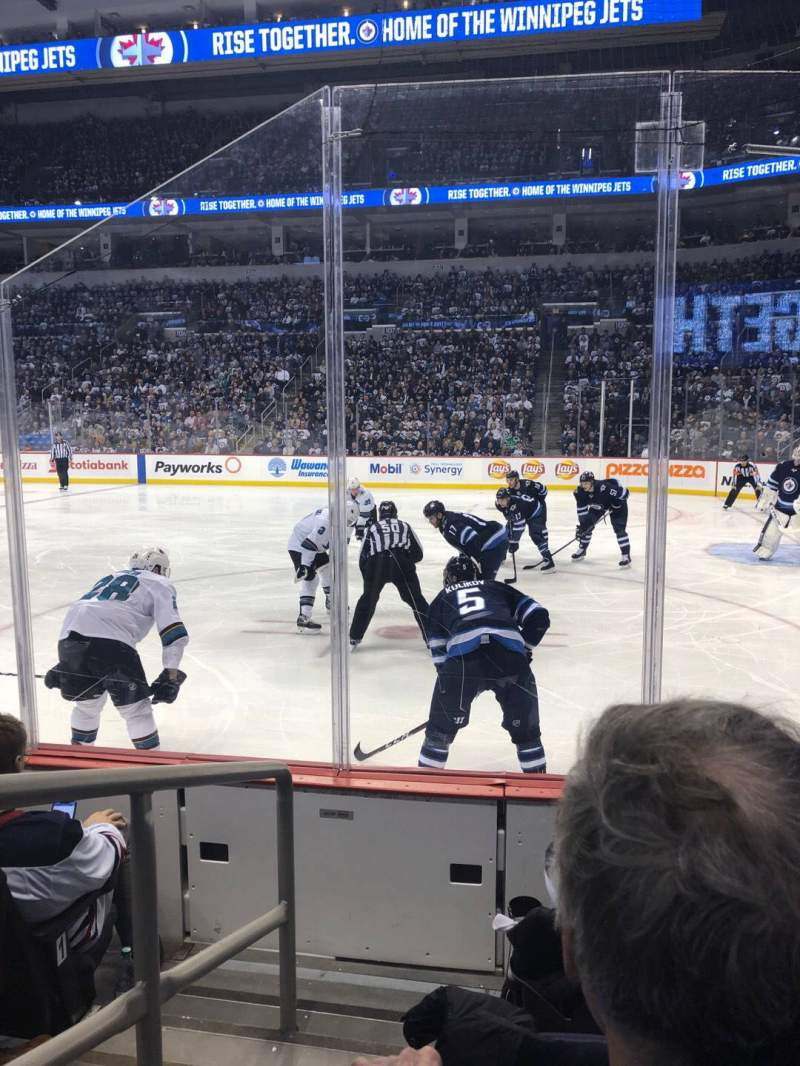 Seating view for Bell MTS Place Section 116 Row 4 Seat 9