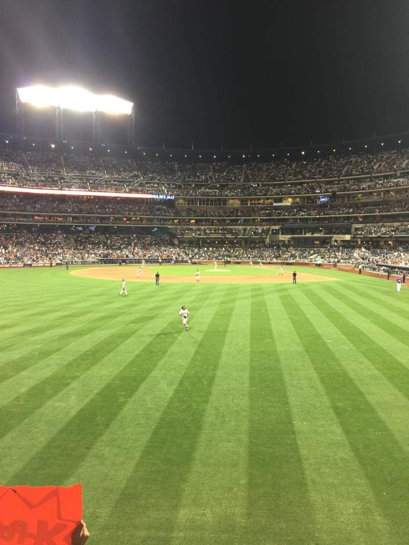 Seating view for Citi Field Section 135 Row 1 Seat 24