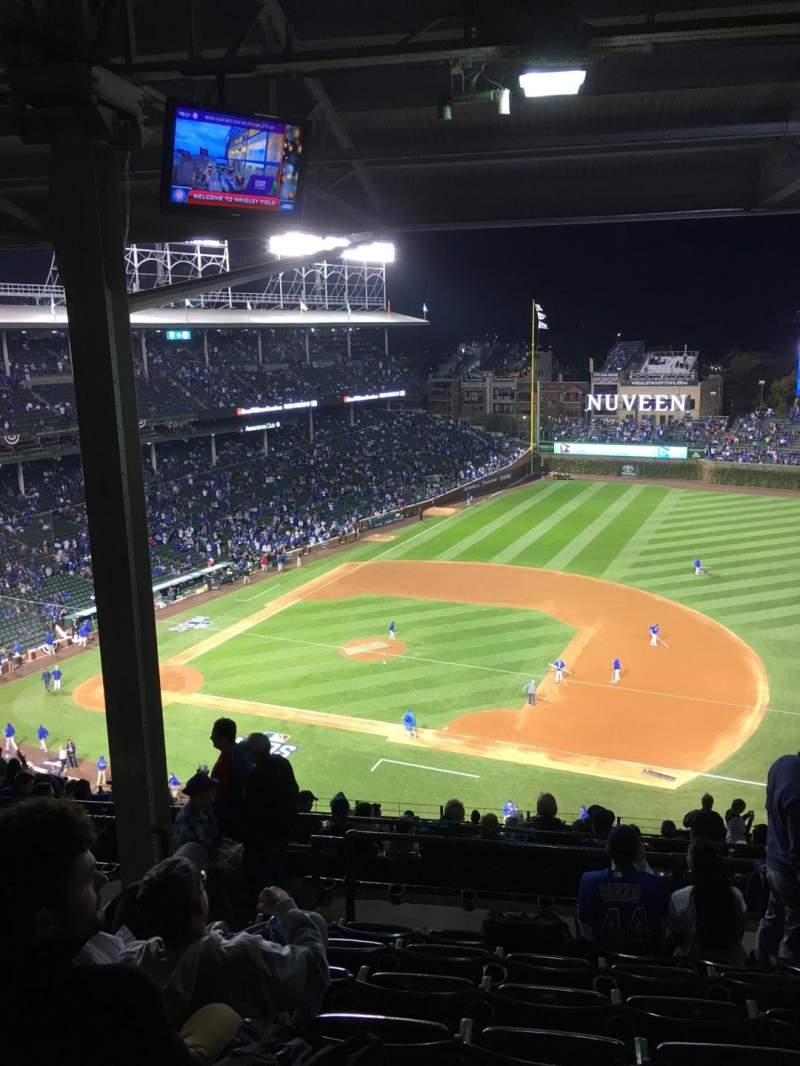 Seating view for Wrigley Field Section 530 Row 7 Seat 4