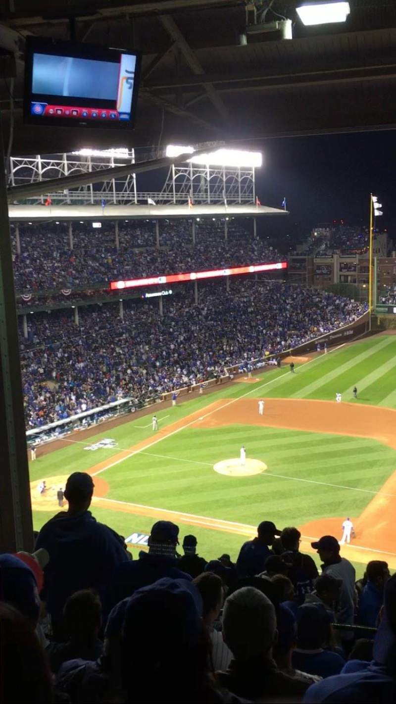Seating view for Wrigley Field Section 530 Row 7 Seat 5