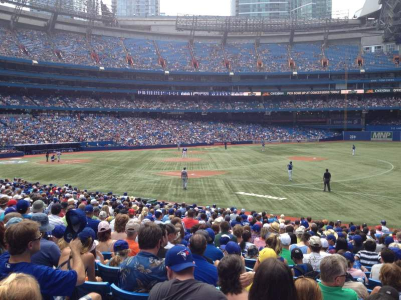 Seating view for Rogers Centre Section 114R Row 23 Seat 10