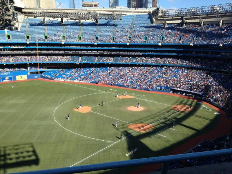 Seating view for Rogers Centre Section 535R Row 2 Seat 3
