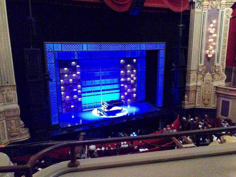 Seating view for Oriental Theatre Section LogeLC Row B Seat 337