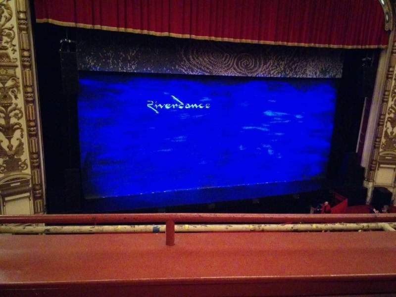 Seating view for Cadillac Palace Theater Section LogeLC Row B Seat 303