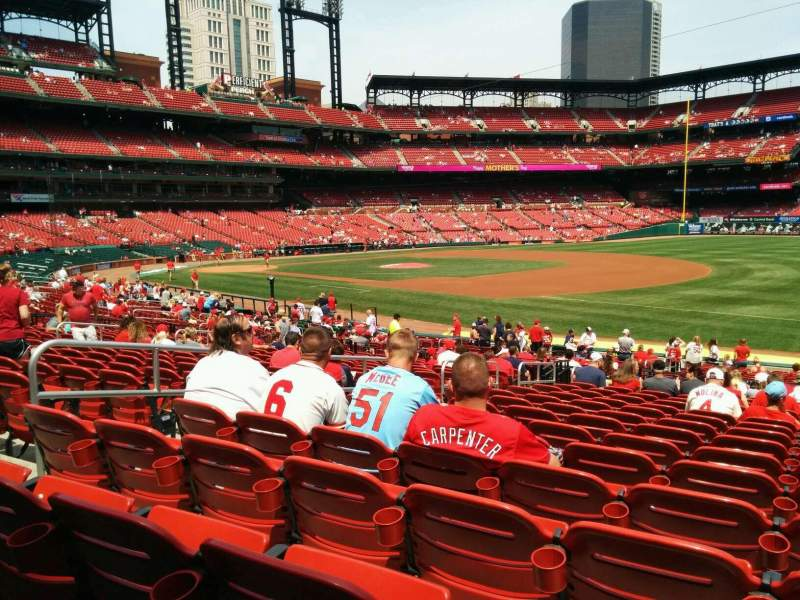 Seating view for Busch Stadium Section 138 Row 18 Seat 7