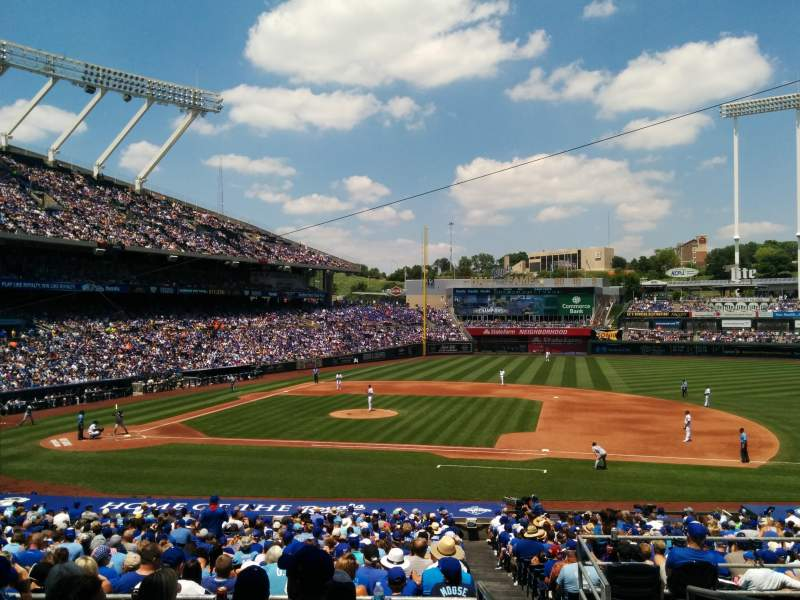 Seating view for Kauffman Stadium Section 234 Row FF Seat 23