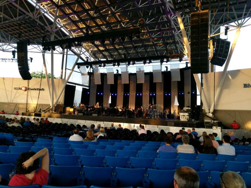 Seating view for BMO Harris Pavilion Section 2 Row U Seat 16
