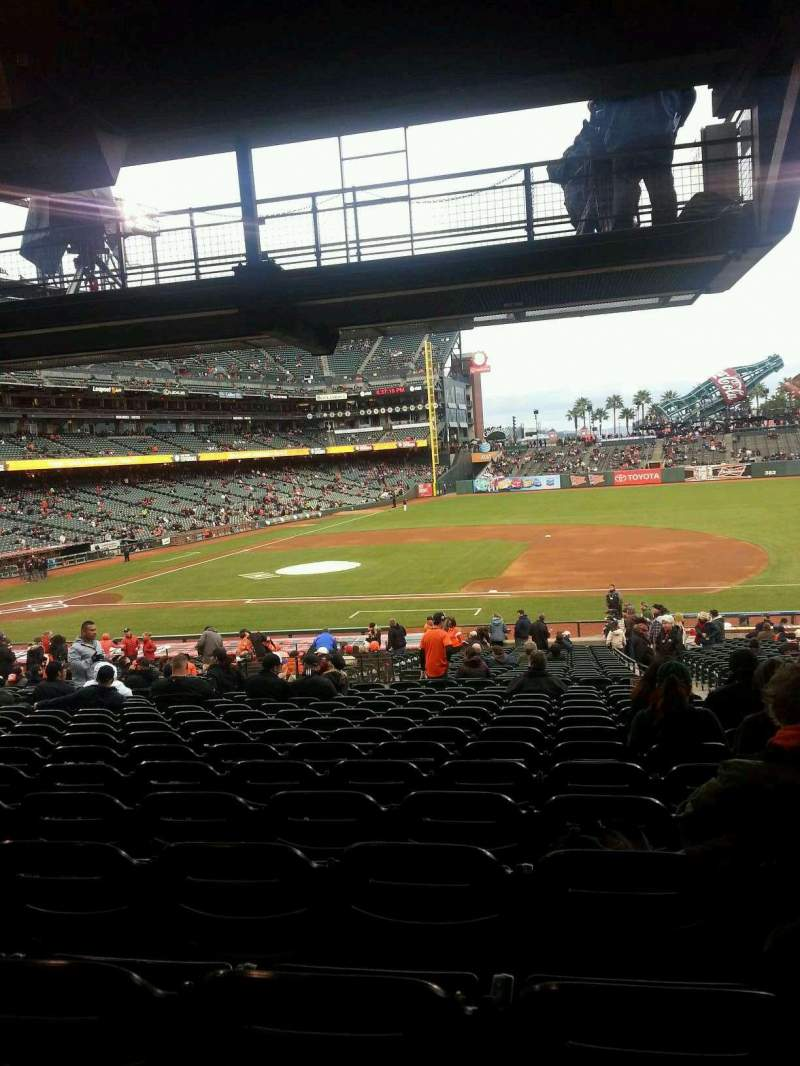 Seating view for AT&T Park Section Lower Box 107 Row 36 Seat 3