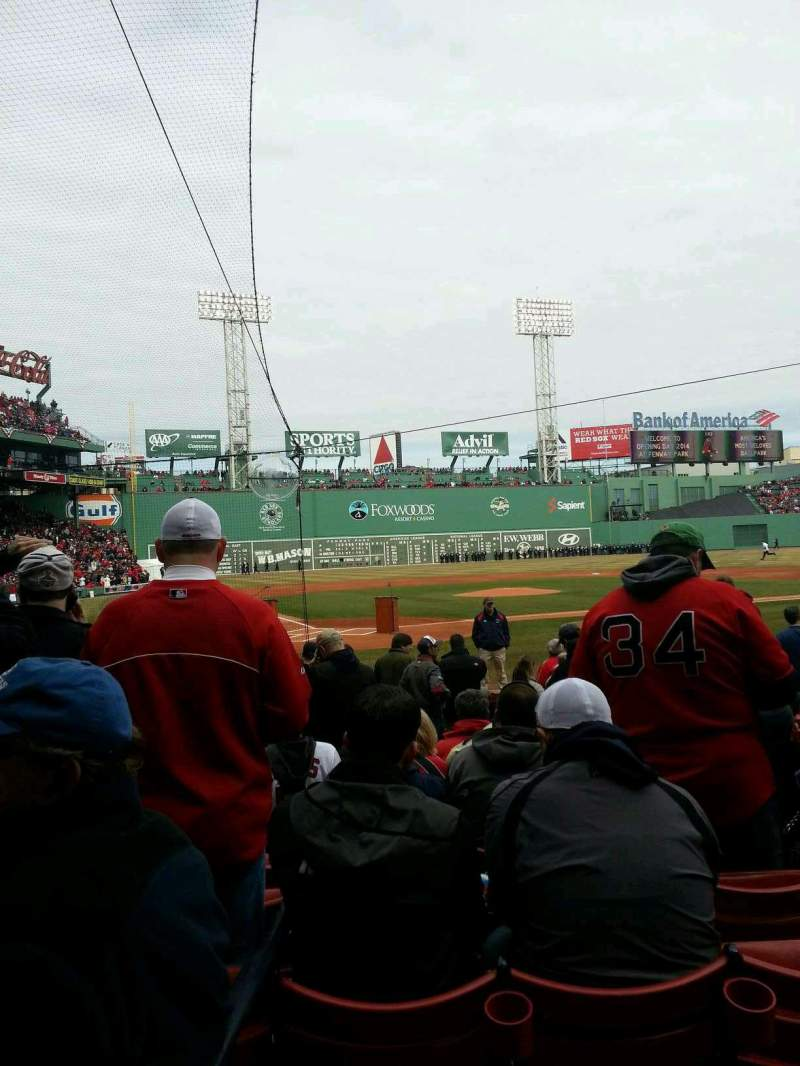 Seating view for Fenway Park Section Field Box 39 Row M Seat 9