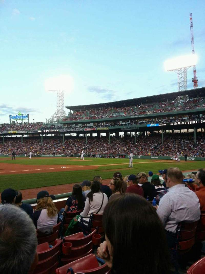 Seating view for Fenway Park Section Field Box 70 Row F Seat 5