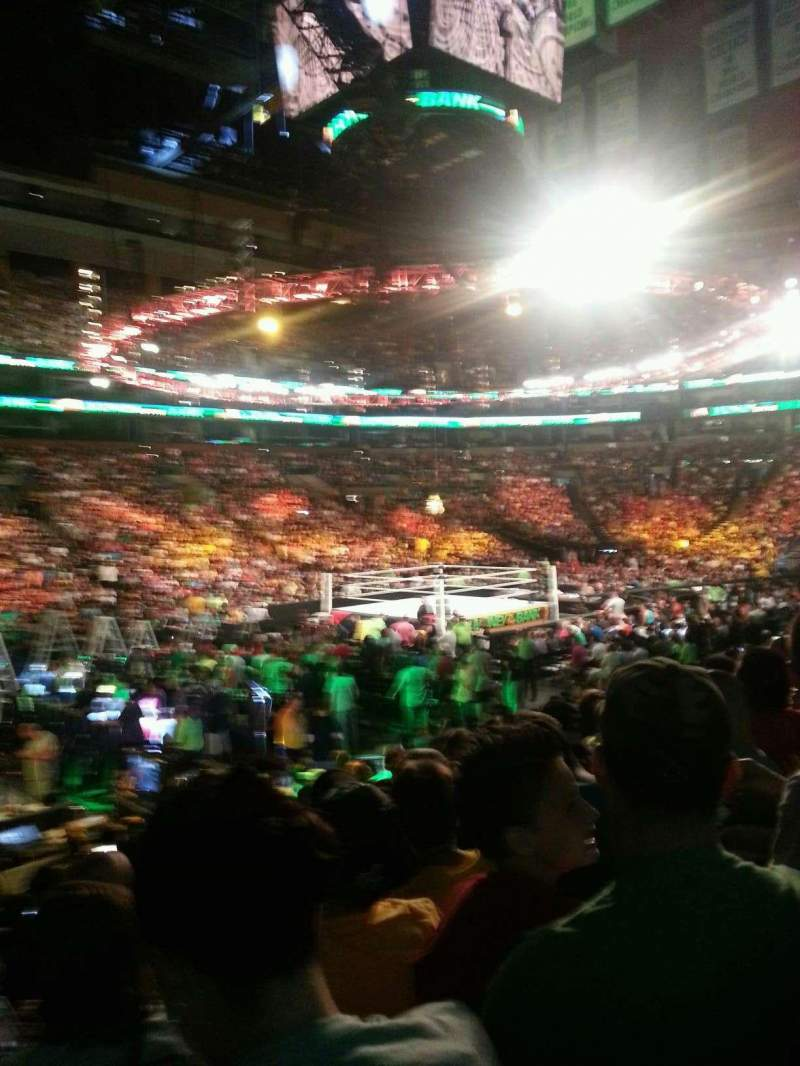 Td Garden Section Loge 14 Row 13 Seat 15 Money In The Bank 2014 Shared By Rjp2286