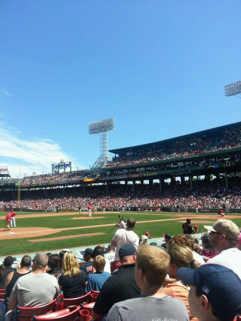 Seating view for Fenway Park Section Field Box 67 Row L Seat 1