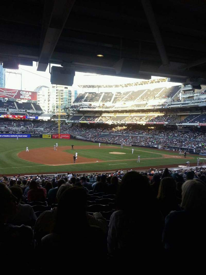 Seating view for PETCO Park Section 114 Row 42 Seat 19