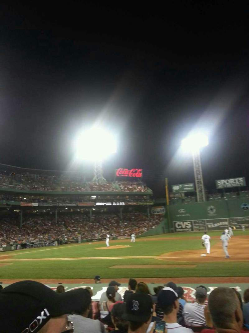Seating view for Fenway Park Section Field Box 24 Row L Seat 3