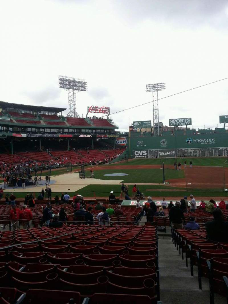 Seating view for Fenway Park Section Grandstand 15 Row 1 Seat 14