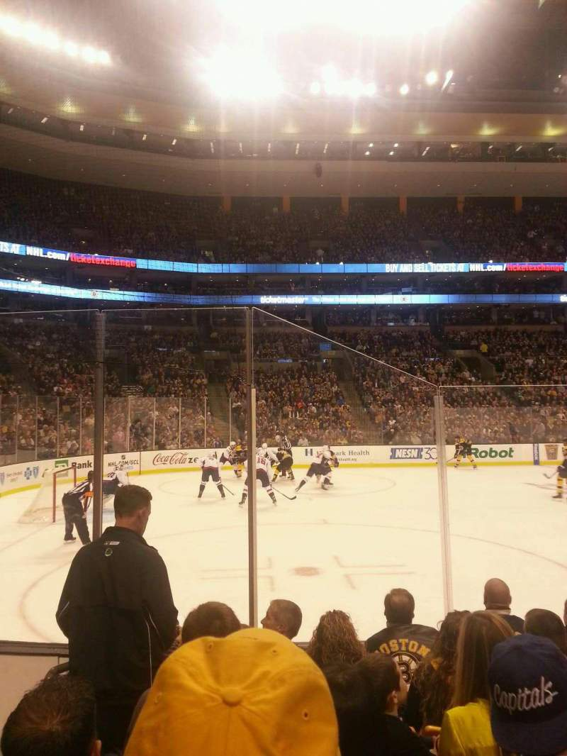Seating view for TD Garden Section Loge 3 Row 6 Seat 12