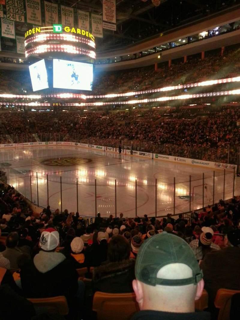 TD Garden, section Loge 19, home of Boston Bruins, Boston Celtics ...
