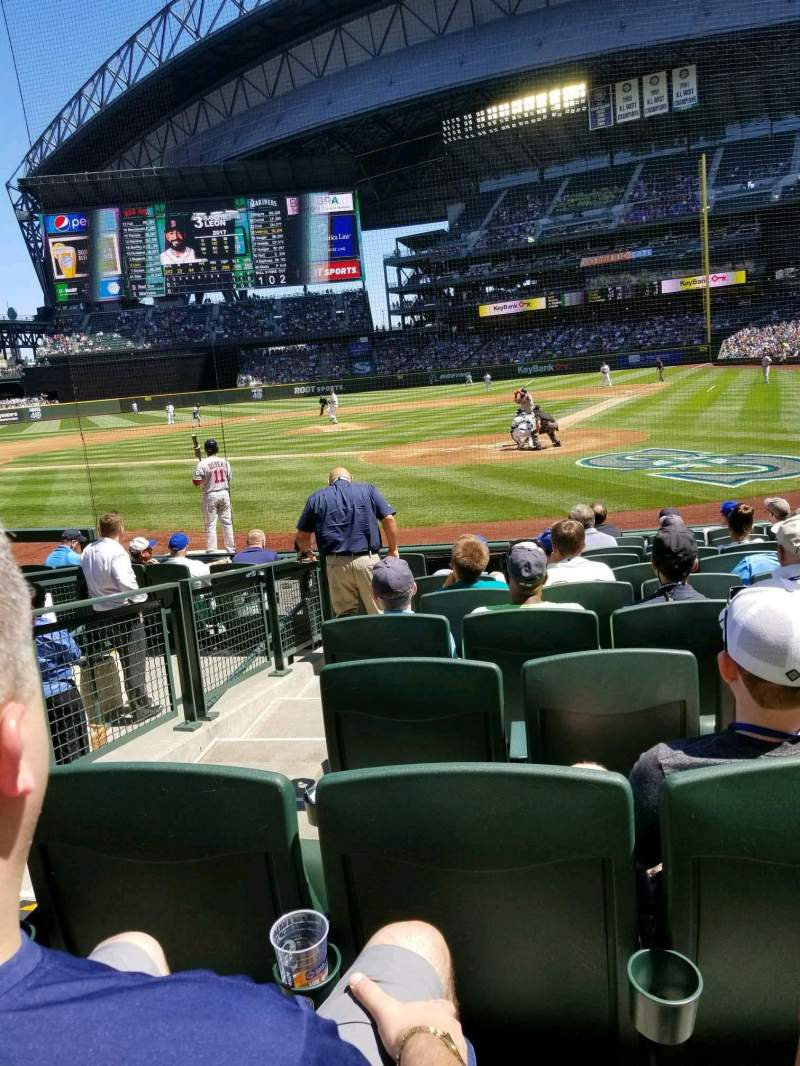 Seating view for Safeco Field Section 132 Row 10 Seat 15