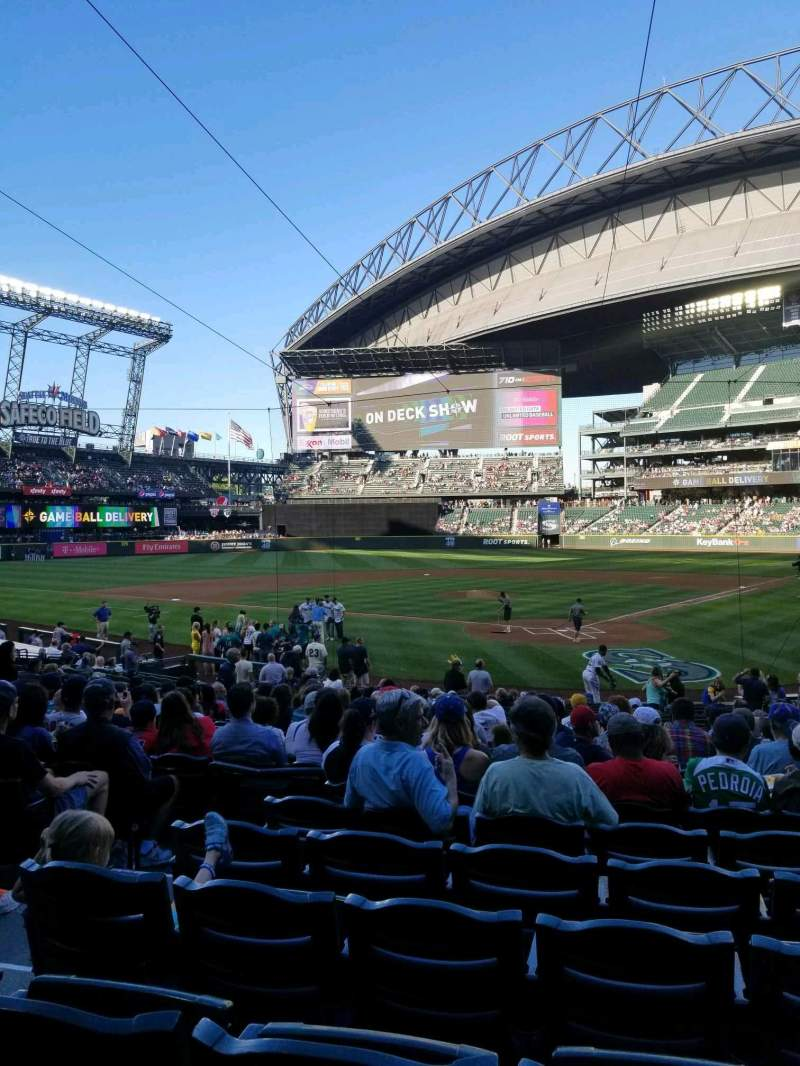 Seating view for T-Mobile Park Section 132 Row 23 Seat 9