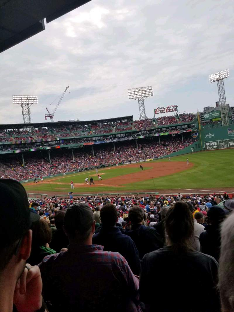 Seating view for Fenway Park Section Grandstand 10 Row 3 Seat 9