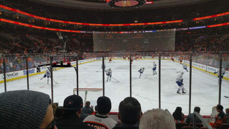 Seating view for Wells Fargo Center Section 107 Row 9