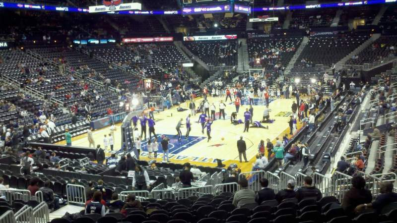 Seating view for Philips Arena Section 108 Row Q Seat 13