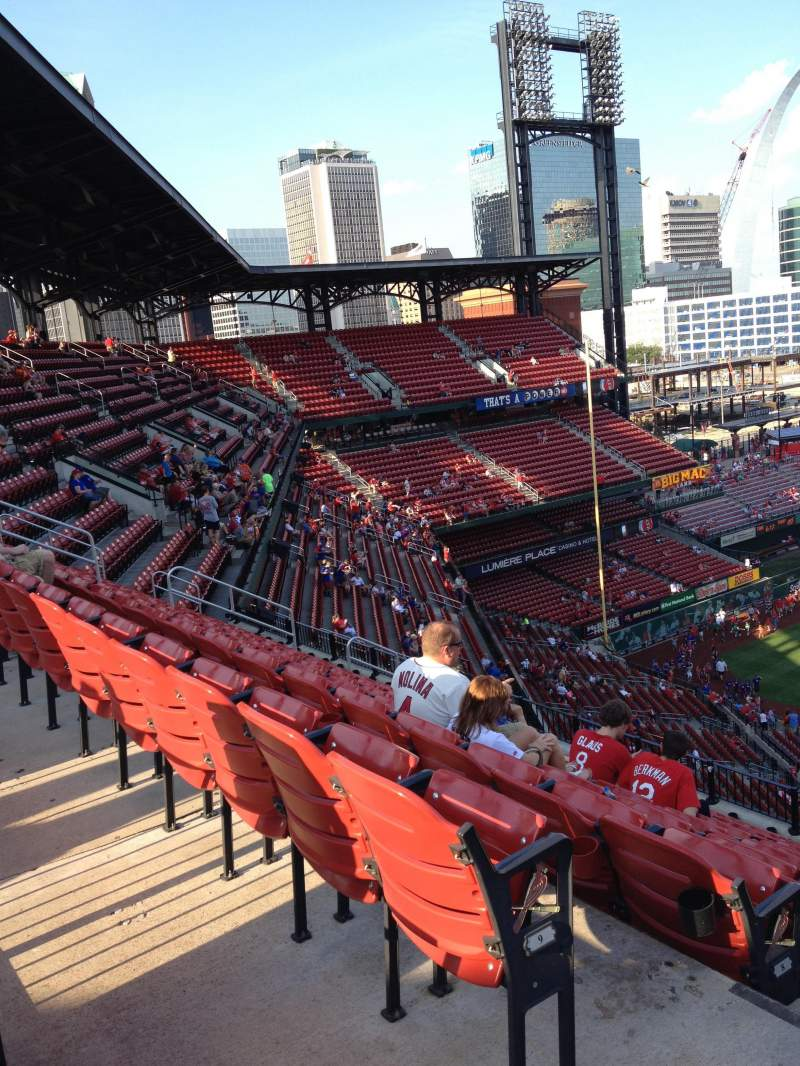 Seating view for Busch Stadium Section 359 Row 10